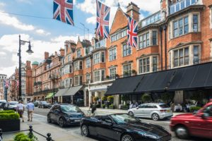 Luxury shops Mayfair London